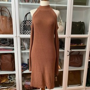Dresses & Skirts - Brown Cold Shoulder Dress